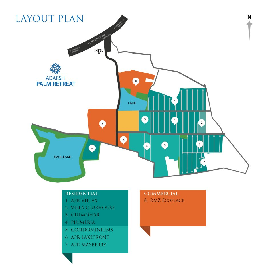 adarsh palm retreat flats layout plan